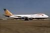 British Airways Boeing 747-236B G-BDXO (msn 23799) (Paithani - India) LHR (SPA). Image: 935961.
