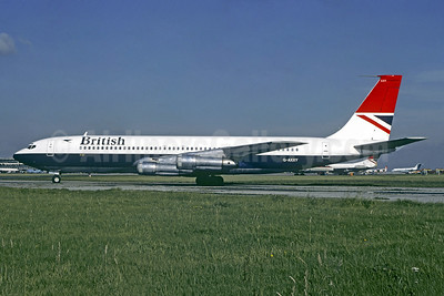 British Airways Boeing 707-336B G-AXXY (msn 20456) LGW (Christian Volpati Collection). Image: 942801.