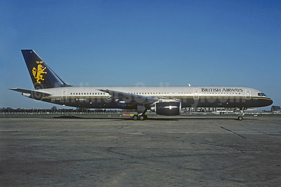 British Airways Boeing 757-236 G-BMRJ (msn 24268) (Caledonian colors) LGW (Christian Volpati Collection). Image: 939915.