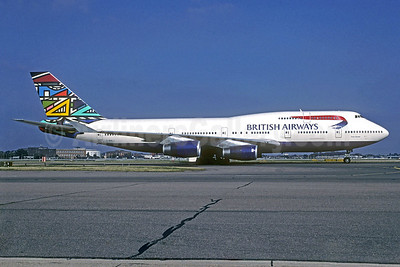 British Airways Boeing 747-436 G-BNLJ (msn 24052) (Martha Masanabo) LHR (Christian Volpati Collection). Image: 940524.