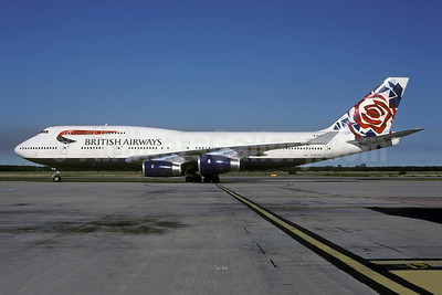 British Airways Boeing 747-436 G-BYGA (msn 28855) (Chelsea Rose - England) BNE (Rolf Wallner). Image: 944594.