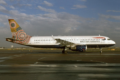 British Airways Airbus A320-211 G-BUSJ (msn 109) (Ngapa Jukurrpa - Water Dreaming - Australia) LHR (SPA). Image: 942256.
