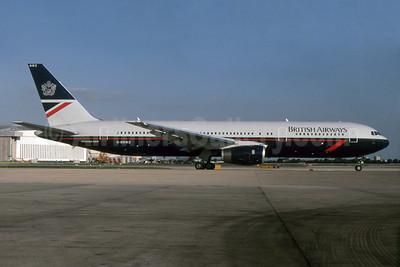 British Airways Boeing 767-336 ER G-BNWZ (msn 25733) LHR. Image: 932817.
