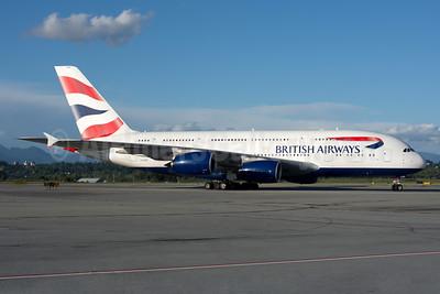 British Airways Airbus A380-841 G-XLEH (msn 163) YVR (Rob Rindt). Image: 934213.
