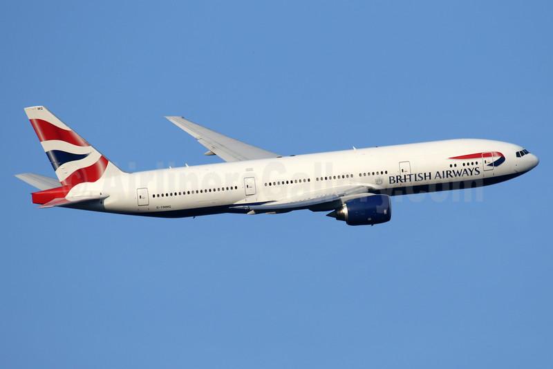 British Airways Boeing 777-236 ER G-YMMG (msn 30308) LHR (SPA). Image: 934997.