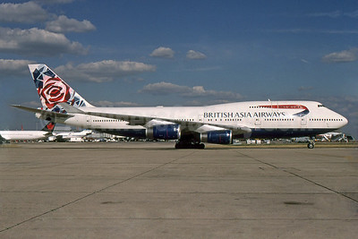 British Asia Airways Boeing 747-436 G-CIVA (msn 27092) (Chelsea Rose) LHR (SPA). Image: 940092.