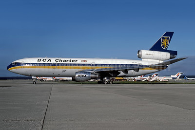 BCA Charter (British Caledonian Airways) McDonnell Douglas DC-10-10 G-BJZD (msn 46970) LGW (Rob Rindt Collection). Image: 948286.
