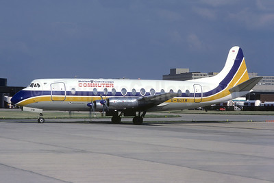 British Caledonian Commuter (British Air Ferries) Vickers Viscount 806 G-AOYR (msn 266) LGW (Christian Volpati Collection). Image: 951252.