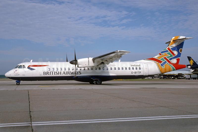 British Airways-CityFlyer Express ATR 72-212 G-BYTP (msn 473) (Colum - Dove - Ireland) LGW (Bruce Drum). Image: 920239.