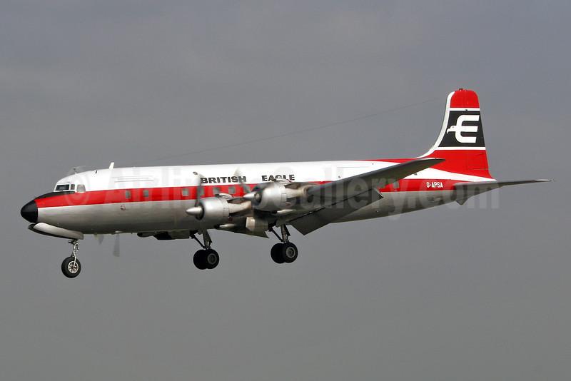 British Eagle International Airlines (Air Atlantique) Douglas DC-6A (msn 45497) BQH (Keith Burton). Image: 90020.