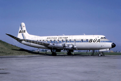 BUA - British United Airways Vickers Viscount 835 G-APTB (msn 424) LGW (Bruce Drum Collection). Image: 947082.