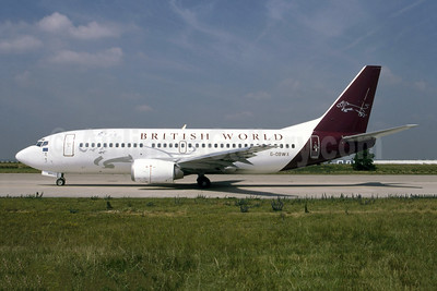 British World Airlines Boeing 737-3Y0 G-OBWX (msn 24255) ORY& (Jacques Guillem). Image: 954672.