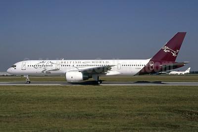 British World Airlines Boeing 757-23A G-OBWS (msn 24528) STN (Antony J. Best). Image: 954673.