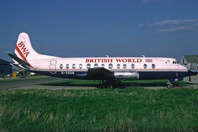 British World Airlines-BWA Vickers Viscount 808 G-CSZB (msn 248) SEN (Richard Vandervord). Image: 925251.
