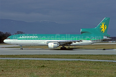 Caledonian Airways (2nd) Lockheed L-1011-385-1-14 TriStar 100 G-BBAE (msn 1083) (Aer Lingus colors) GVA (Jacques Guillem Collection). Image: 921675.