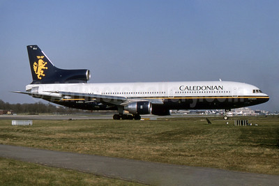 Caledonian Airways (2nd) Lockheed L-1011-385-1-14 TriStar 100 G-BBAJ (msn 1106) LGW (SPA). Image: 931812.