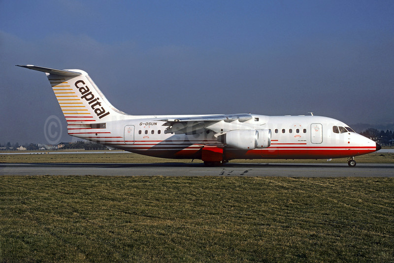 Capital Airlines (UK) 146-200 G-OSUN (msn E2020) SZG (Christian Volpati Collection). Image: 930714.