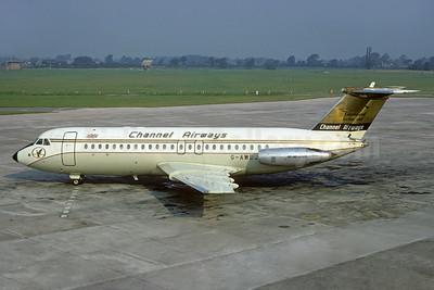 """One Eleven """"Continental Golden Jet"""", delivered October 5, 1968"""