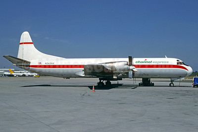 Channel Express Lockheed 188A (F) Electra N343HA (msn 1053) (Zantop colors) (Christian Volpati Collection). Image: 911725.