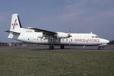 Channel Express - Parcel Force Fokker F.27 Mk. 500 (F) G-CEXB (msn 10550) BOH (SPA). Image: 954662.