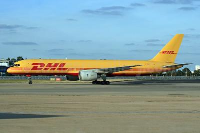DHL Air (UK) Boeing 757-236 (F) G-BIKC (msn 22174) LHR (SPA). Image: 929387.