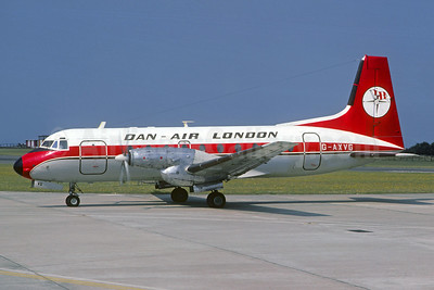Dan-Air London (Dan-Air Services) Hawker Siddeley HS.748-226 Series 2 G-AXVG (msn 1589) JER (Christian Volpati Collection). Image: 931613.