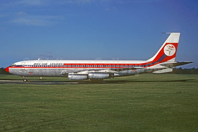Dan-Air London (Dan-Air Services) Boeing 707-321 G-AZTG (msn 17600) (Air Malta colors) STN (Christian Volpati Collection). Image: 932931.