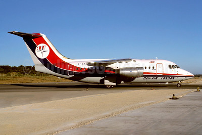 Dan-Air London (Dan-Air Services) BAe 146-100 G-BKHT (msn E1007) PMI (Christian Volpati Collection). Image: 942829.