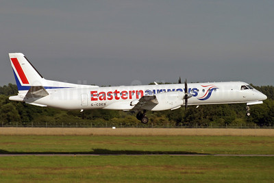 Eastern Airways SAAB 2000 G-CDEB (msn 036) SOU (Antony J. Best). Image: 904365.