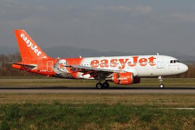 "easyJet (easyJet.com) (UK) Airbus A319-111 G-EZBI (msn 3003) (William Shakespeare - ""Romeo Alpha Juliet"") BSL (Paul Bannwarth). Image: 922530."