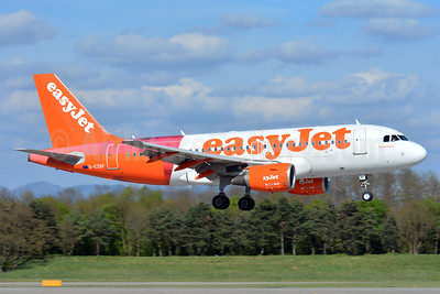 "easyJet (UK) Airbus A319-111 G-EZBF (msn 2923) (partial Tartan - ""Inverness"") BSL (Paul Bannwarth). Image: 937627."