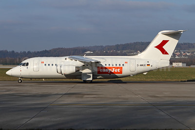 easyJet (UK) (WDL Aviation) BAe 146-200 D-AWUE (msn E2050) (Austrian tail logo) ZRH (Andi Hiltl). Image: 940884.