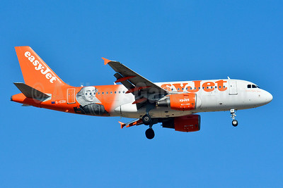 "easyJet (easyJet.com) (UK) Airbus A319-111 G-EZBI (msn 3003) (William Shakespeare - ""Romeo Alpha Juliet"") BSL (Paul Bannwarth). Image: 932103."