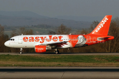 "easyJet (easyJet.com) (UK) Airbus A319-111 G-EZBI (msn 3003) (William Shakespeare - ""Romeo Alpha Juliet"") BSL (Paul Bannwarth). Image: 922531."