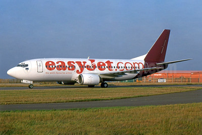 easyJet (easyJet.com) (UK) Boeing 737-3Y0 G-OBWX (msn 24255) (British World colors) LTN (SPA). Image: 955211.