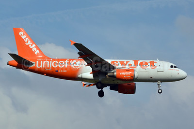 easyJet (UK) Airbus A319-111 G-EJAR (msn 2412) (Supporting UNICEF) LGW (Jay Selman). Image: 403635.
