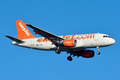 easyJet (easyJet.com) (UK) Airbus A319-111 G-EZBE (msn 2884) BSL (Paul Bannwarth). Image: 934538.