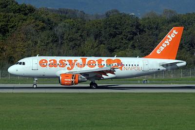 easyJet (UK) Airbus A319-111 G-EZEZ (msn 2360) (Napoli - Naples) GVA (Paul Denton). Image: 925382.