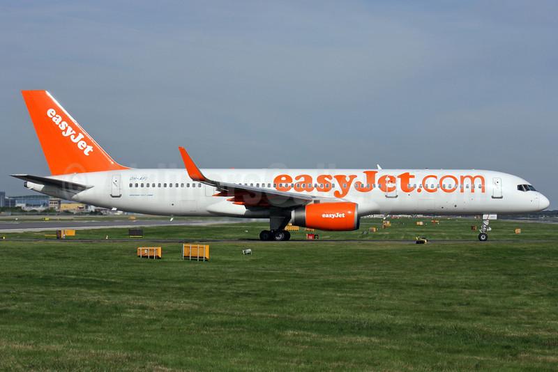 easyJet (easyJet.com) (UK)-Air Finland Boeing 757-2F2 WL OH-AFI (msn 26330) LGW (Antony J. Best). Image: 912542.