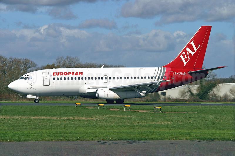European Aviation AirCharter-EAL Boeing 737-229 G-CEAG (msn 21136) SEN (Keith Burton). Image: 901479.
