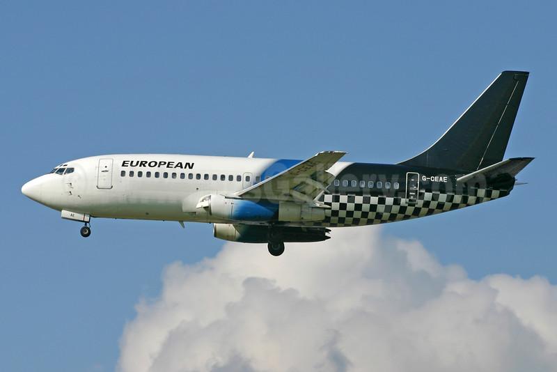 European Aviation AirCharter Boeing 737-229 G-CEAE (msn 20912) LGW (Terry Wade). Image: 900843.
