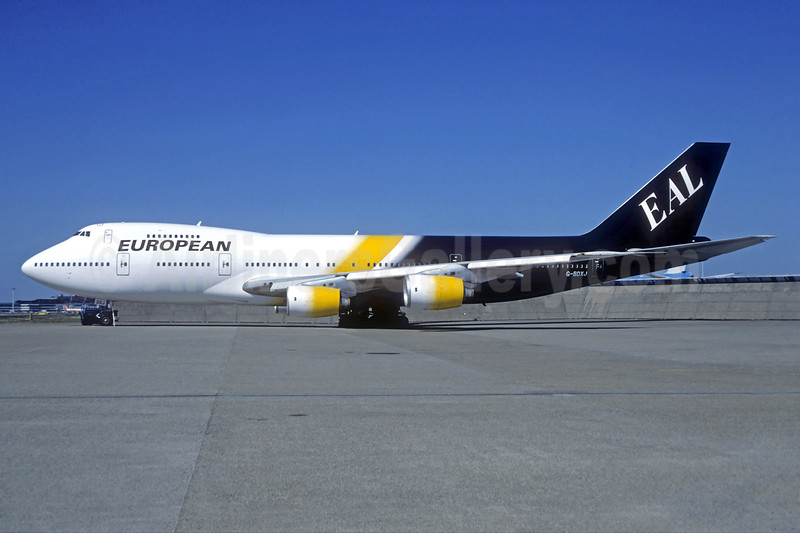 European Aviation AirCharter-EAL Boeing 747-236B G-BDXJ (msn 21831) AMS (Christian Volpati Collection). Image: 938012.