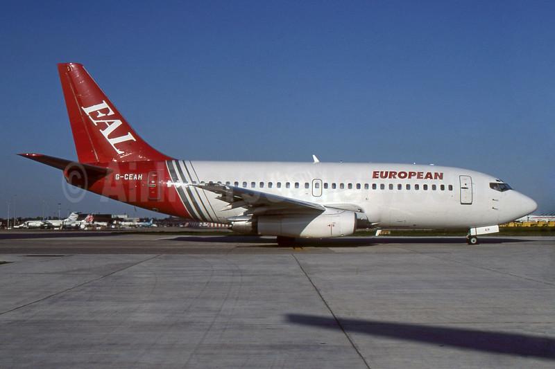 European Aviation AirCharter-EAL Boeing 737-229 G-CEAH (msn 21135) LGW (SPA). Image: 938010.