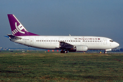 Excalibur Airways Boeing 737-3Q8 G-OCHA (msn 24068) LGW (SM Fitzwilliams Collection). Image: 935230.