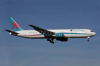 First Choice Airways Boeing 767-35E ER G-DBLA (msn 26063) LGW (Antony J. Best). Image: 902083.