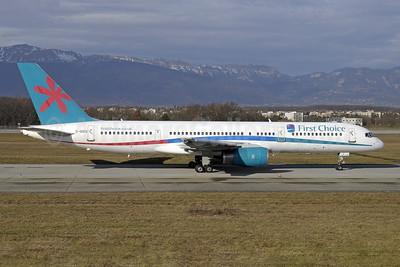 First Choice Airways Boeing 757-2Y0 G-OOOX (msn 26158) GVA (Paul Denton). Image: 913830.