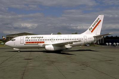 Fly Europa (European AirCharter) (UK) Boeing 737-229C G-BYYF (msn 21738) BOH (Antony J. Best). Image: 951234.