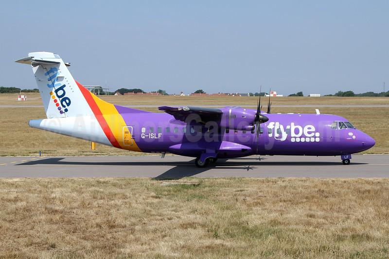 Flybe (Blue Islands) ATR 42-500 G-ISLF (msn 546) GCI (Nick Dean). Image: 942920.