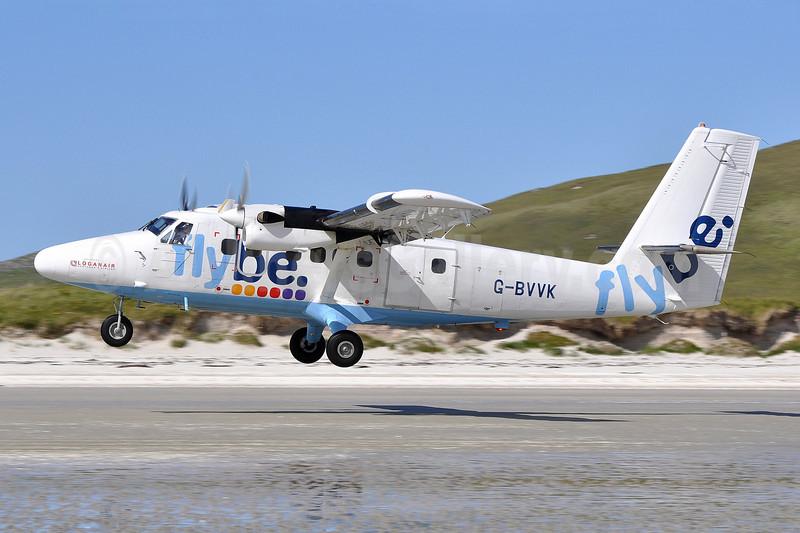 Flybe-Loganair de Havilland Canada DHC-6-300 Twin Otter G-BVVK (msn 666) BRR (Robbie Shaw). Image: 907742.