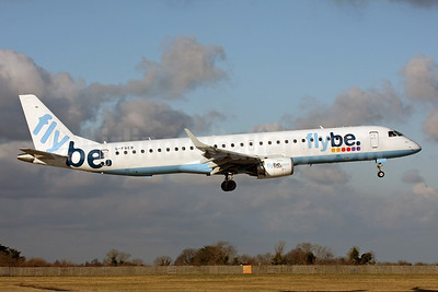 Flybe (British European 2nd) Embraer ERJ 190-200LR (ERJ 195) G-FBEB (msn 19000057) DUB (Michael Kelly). Image: 923152.